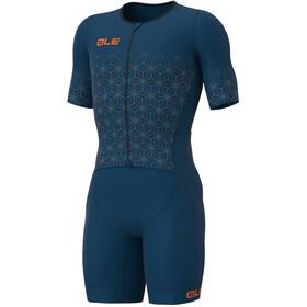 Alé Cycling Maui SS Triathlon Skinsuit Long Men, petrolio
